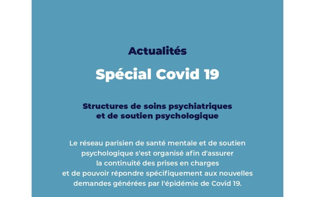 Paris – confinement : Les structures de soins psychiatriques et de soutien psychologique
